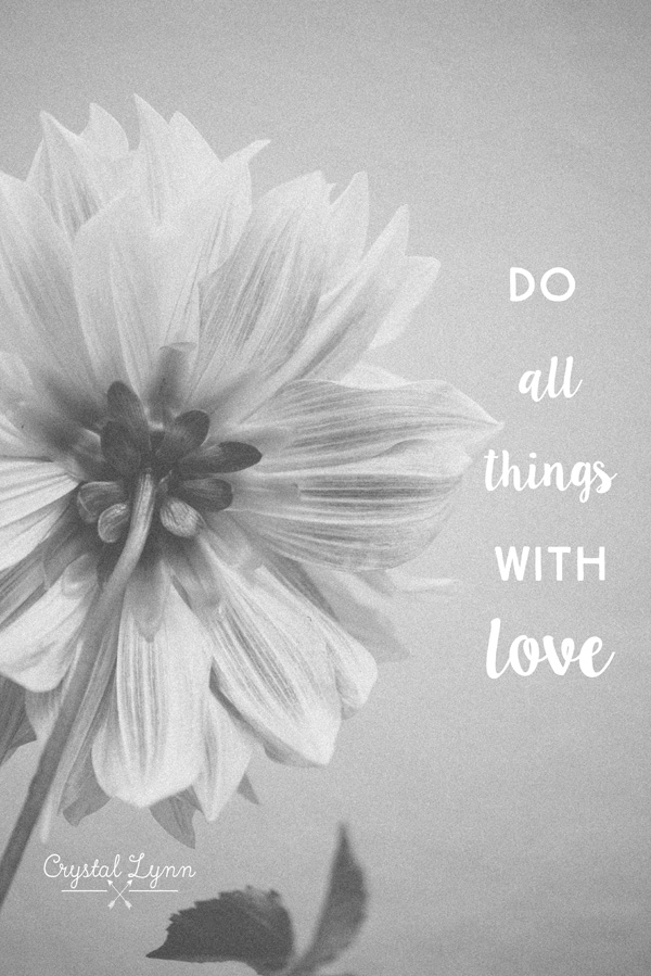 do all things with love | Crystal Lynn Photography | www.crystallynncollins.com